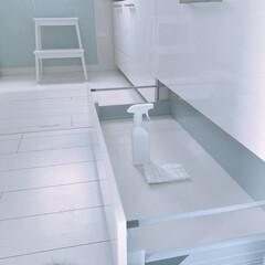 掃除/収納/リクシルキッチン/リクシル/整理整頓/整理収納/... システムキッチンの1番下の引き出しを見直…