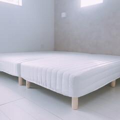 ベッド/寝室インテリア/寝室/脚付きマットレス/マットレス 脚付きマットレス✨ マットレスの下も掃除…