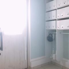 整理収納/収納/マグネット/靴べら/LIXILドア/玄関ドア/... 玄関ドアにマグネット靴べらをぽちり! 長…