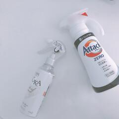 洗剤/アタック/アタックZERO/柔軟剤スプレー/洗剤ボトル アタックZERO買ってみました♡ 使いや…