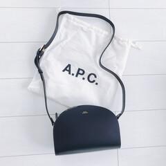 apc/バック/ハーフムーン/ファッション 念願のハーフムーンバック♡ いろんなファ…