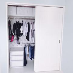 収納/クローゼット収納/クローゼット/子供部屋/衣類収納/引き出しケース/... 娘の部屋、クローゼット収納♡ 収納見直し…