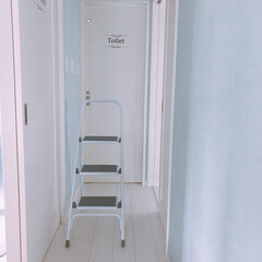 ホワイトがすき/掃除/脚立/暮らし 脚立をやっと買いました♡ホームセンターに…