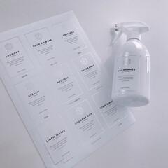 モノトーン/ラベルシール/ラベル/スプレーボトル/ボトル モノトーンさんのラベル可愛い♡ホワイト×…