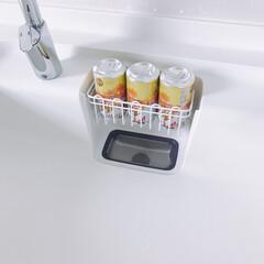 空き缶/ゴミ/シンク/キッチン 缶が3本分シンデレラフィットで乾かせます…
