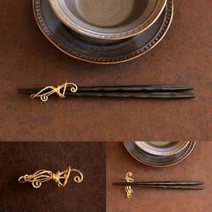 箸置き/ワイヤー/ワイヤーアート/ワイヤークラフト/針金アート 箸置き が欲しくなり「ワイヤーで作ろう!…