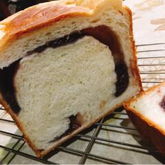 あん食パン/手作りパン/ホームベーカリー/おうちパン/フード あん食パン💕 作って食べると美味しいな〜…