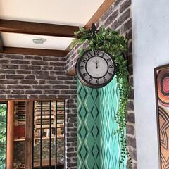 グリーンインテリア/壁掛け時計/カフェ風インテリア/DIYリフォームアドバイザー/夏水組/Decor Interior Tokyo/... お気に入りの#OLDSTREETCLOC…