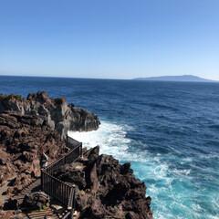 おでかけ/風景/おでかけワンショット 伊豆高原 城ヶ崎海岸にて! 海の色がとて…(3枚目)