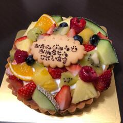 誕生日ケーキ 今日は誕生日で息子がケーキをプレゼントし…