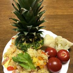 ハワイ料理/タイ料理/パイナップル/夕食/おうちごはん/暮らし 象の国のレストランで食べたパイナップルラ…