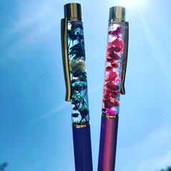 ハーバリウムボールペン/ボールペン/文房具/ハーバリウム/インテリア/雑貨/... ハーバリウムボールペン 簡単に作れて楽し…