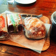 サンドイッチ/パン パン屋さんでランチです