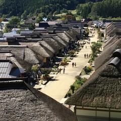 街並み/旅行 福島 大内宿に来ました。 古い街並みと自…