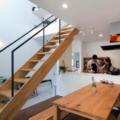 自然素材/無垢材/無垢杉の床/漆喰の壁/白い壁/外断熱/... . ~夫婦で料理をタノシム  休日の心地…