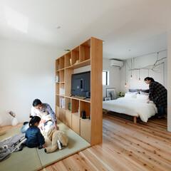 無垢材/収納/畳/ユニット畳/ベッド/照明/... . ~床にユニット畳を配置して  和スペ…