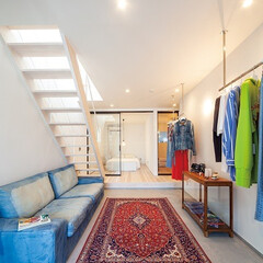 自然素材/無垢材/無垢杉の床/漆喰の壁/白い壁/W断熱のの家/... . ~使い方は自由自在!  まるでセレク…