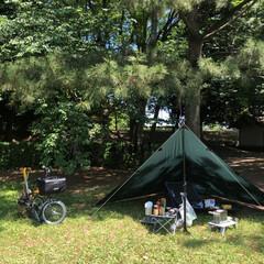 ブラ〜ッとお出かけ/焼肉/ソロキャンプ 定休日で天気もいいからいつもの公園で焼肉…