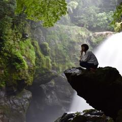 カメラ同好会/滝/お出かけ 大分県竹田市黄牛の滝(あめうしの滝) 台…