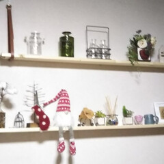 飾り棚/サンタクロース/コメリ/クリスマス2019/ダイソー もう一段追加して 雑貨もちょっとかえて …