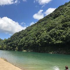 川遊び/至福のひととき/風景 絶好の天気‼️川遊びとバーベキュー スイ…