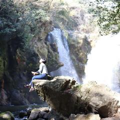 きよかわの道の駅/大分、竹田/黄牛の滝/お出かけ いい天気、暖かい🎵 ドライブ🎶🚗💨🎶滝の…(1枚目)