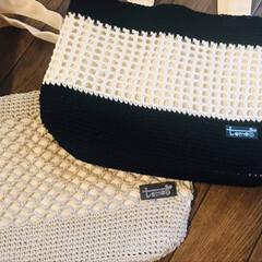 レジン/販売/夏用バッグ/バッグ/模様編み/かぎ針編み/... 夏に向けてのバッグを作りたくて  でも持…