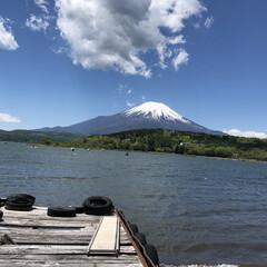 空/富士山/景色/旅/山中湖/青空/... 富士山シリーズ  これは5月の富士山で山…