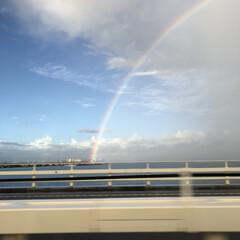 夏休み/虹/青空/フォロー大歓迎/風景/旅行 今年の夏は一回だけ海に行ったのですが、た…