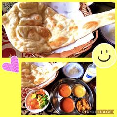 ナン/キーマカレー/チキンカレー/野菜カレー/シーフードカレー/インドカレー食べ放題/... こんばんは😄 今日のランチ インドカレー…