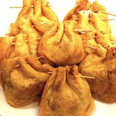 美味しい/簡単/納豆/フォロー大歓迎/わたしのごはん/グルメ/... 納豆油揚げ包み焼き😋 中に青のり&ごまも…