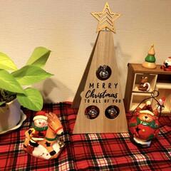クリスマス雑貨/ポトス🌱/3COINS新商品/次のコンテストはコレだ!/ダイソー/セリア/... クリスマス雑貨を飾りました🎄✨ 今年は3…