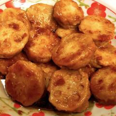 国産れんこんスライス水煮120g 煮物や炒め物など色々なお料理にお使いください。(れんこん)を使ったクチコミ「梅肉れんこんバーグ😋」