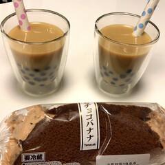 冷凍 インスタント タピオカ 300g 神戸物産 1袋(その他ソフトドリンク)を使ったクチコミ「デザート❣️ タピオカミルクティー(๑'…」