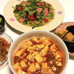 麻婆豆腐/煮物/魚肉ソーセージ/簡単/フォロー大歓迎/フード/... こんばんは(*^ω^*) お腹空いた〜❗…