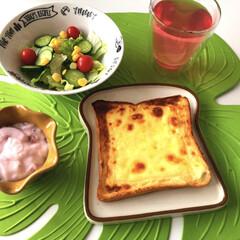 Aladdin アラジン AET-GS13N グラファイト トースター 遠赤グラファイト搭載 アラジン ホワイト | アラジン(トースター)を使ったクチコミ「今日の朝食😋🍴✨  昨日、テレビ番組でS…」