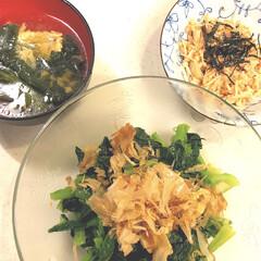 簡単/中華スープ/えのき/たらこバター/小松菜/LIMIAごはんクラブ/... 小松菜サラダ🥬 えのきたらこバター焼き …