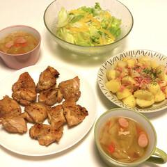 味の素 コンソメ 顆粒 袋(60g)(だし、ブイヨン、がらスープ)を使ったクチコミ「夜になると温度が下がってきますね😅 久し…」