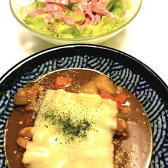ハウス こくまろカレー中辛 140g(イカ惣菜、加工品)を使ったクチコミ「おはようございます( *ˆ︶ˆ* )  …」