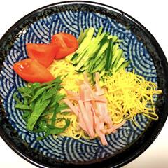 美味しいですよ/簡単/冷やし中華/ラ王/日清/雨季ウキフォト投稿キャンペーン/... 今夜は、ラ王の冷やし中華 氷水で麺をしめ…