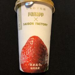"""SAISON FACTORY/グリコ/あまおう/panapp/アイスクリーム🍨🍓/商品紹介/... (*'˘')ノ""""ただいま✦*。  学校の…"""