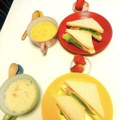 クノール カップスープ バラエティボックス / クノール(スープ)を使ったクチコミ「|ョ'ω'〃)おはようございます♪ 今朝…」