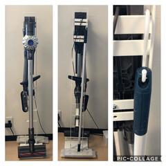 クリーナースタンド 掃除機スタンド 収納 コードレスクリーナースタンド プレート Plate ホワイト 03559(掃除機部品、アクセサリー)を使ったクチコミ「おはようございます😃  我が家の掃除機収…」