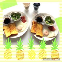 マヨネーズ/七味/ピリッと/ワンプレート/おすすめアイテム/令和の一枚/... おはようございます😊 ゆっくり朝ごはん …