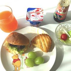 いちご🍓ヨーグルト/野菜ジュース/大根サラダ🥗/シャインマスカット/成城石井/アップルパイ/... おはようございます😄 今朝は珍しく娘がテ…