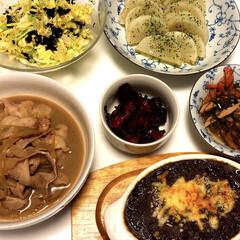 ヒルナンデス/しば漬け/レンジで大根オリーブかけ/やみつきキャベツ😋/焼きカレー/豚丼/... 豚丼 焼きカレー やみつきキャベツ😋 レ…(1枚目)