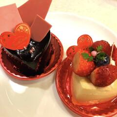ご褒美ケーキ/ピンク/暮らし ご褒美ケーキ💓 いちご🍓好き チョコ好き…