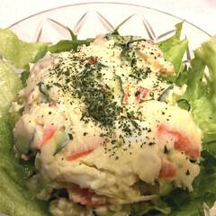 ポテトサラダ/野菜たっぷり/LIMIAごはんクラブ/フォロー大歓迎/わたしのごはん/ハンドメイド/... 野菜たっぷりのポテトサラダ😋