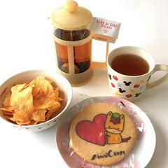 モンシェリー/日東紅茶/コンソメパンチ/サブレ/ぐんまちゃん/フォロー大歓迎/... 3時のおやつ😋小腹空いた モンシェリーの…