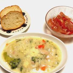 ハウス食品 クリームシチュー 業務用 1kg1箱(シチュールー)を使ったクチコミ「こんばんは(*^ω^*) 今日の夜は、ク…」